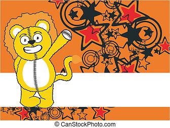 lion cartoon background 5