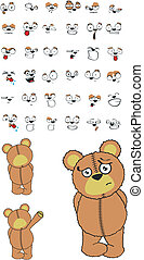 teddy bear cartoon set01 - teddy bear cartoon set in vector...
