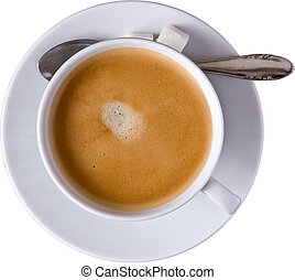a cup of coffee - isolated picture of a cup of coffee with a...