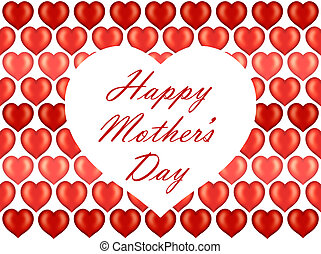 Mother's Day card on hearts pattern