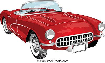 vette - A red convertible vette
