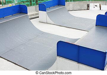 Skatepark at day and nobody playing in hong kong