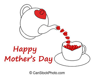 Mother's Day hearts - Mother's Day hearts poured from a...