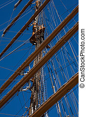 Tall sail ship rigging