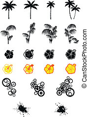 hawaiian set in vector format 01 - hawaiian set in vector...