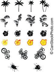 hawaiian set in vector format 01 - hawaiian set in vector...