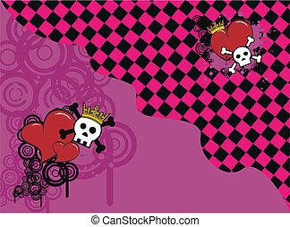 skull heart background5