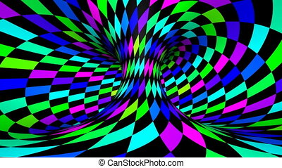 Twist rotation - Wink - Loop twisted rotation - Rainbow wink...