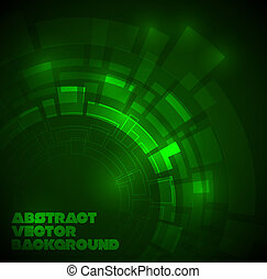 Abstract dark green technical background with place for your...