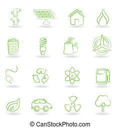Eco and environment symbols - Eco and environmet related...