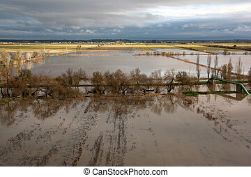 Flooded Fields on a Cloudy Day II - Flooded Fields on a...
