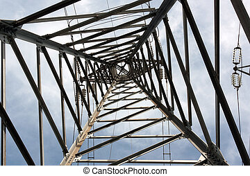 High Voltage Pole from Below-Inside