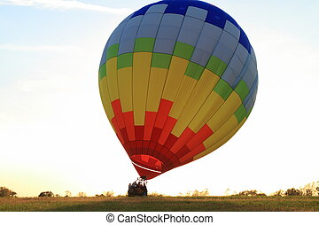 Hot Air Balloon landing - Hot Air balloon landed in the...