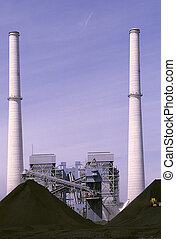 Cooling Towers - Giant cooling towers for a coal power...