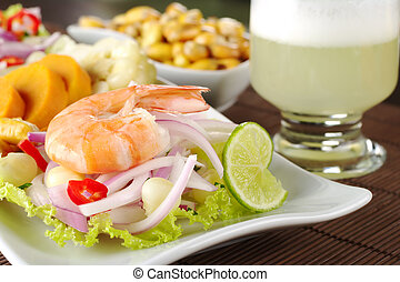 Peruvian Ceviche with King Prawn - Peruvian ceviche with...