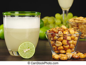 Peruvian Pisco Sour - The Peruvian cocktail, Pisco Sour with...