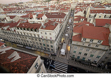Baixa - View of Lisbon's downtown