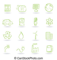 Environment and ecology icons - Environment and ecology icon...