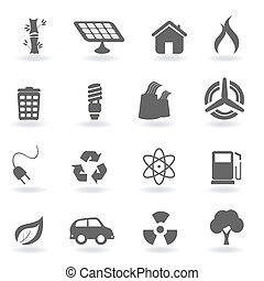 Ecology and environment symbols - Ecology icon set in...