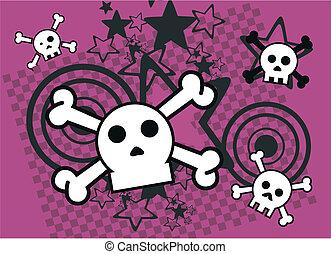 skull cartoon background8