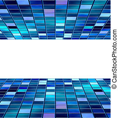blue blocks with copyspace - abstract background of blue...