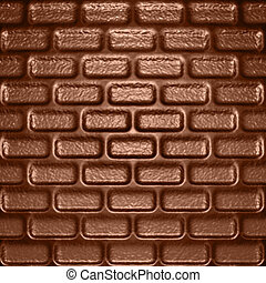 chocolate bricks - abstract background in a form of...