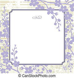 Vector Lilac Background and Frame - Vector lilac frame and...