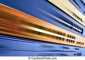 High speed internet - Blurred telecommunication equipment....
