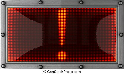 Exclamation mark announcement on the LED display