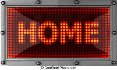 home announcement on the LED display