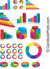 set of shiny graphics and diagrams
