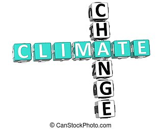 Climate Change Crossword - 3D Climate Change Crossword on...