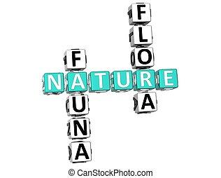 Nature Fauna Flora Crossword - 3D Nature Fauna Flora...