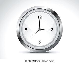 abstract shiny clock icon