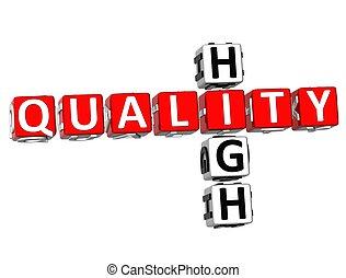 High Quality Crossword - 3D High Quality Crossword on white...