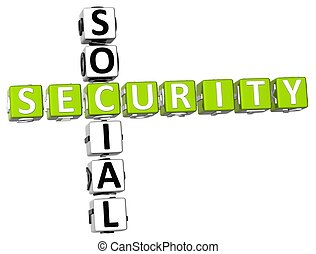Social Security Crossword - 3D Social Security Crossword on...