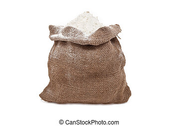 Burlap sack with flour