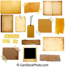 grunge paper piece note - collection of various grunge paper...