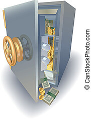 Overflowing full safe