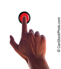 finger press red button