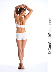 Fit body healthy woman from behind - Healthy young woman...