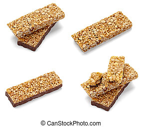 cereal bar healthy food nutrition - cokkection of various...