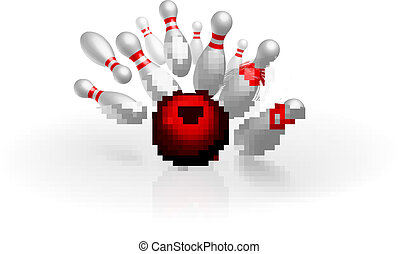 Bowling strike vector illustration