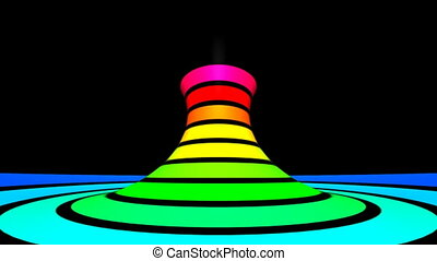 Twisted rotation - Motion rainbow - Loop twist rotation -...
