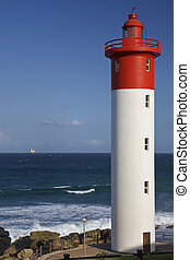 Umhlanga Rocks, Lighthouse - Umhlanga Lighthouse with Durban...