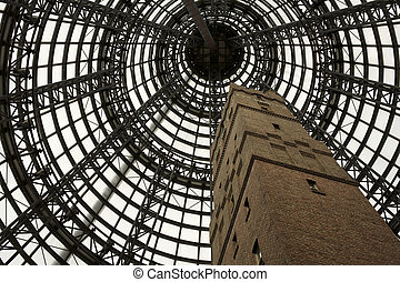 Melbourne, City Central - Melbourne central tower with...