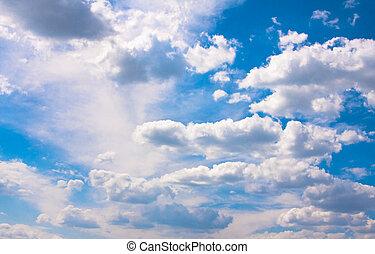 Skyscape (cumulus clouds in the sky)