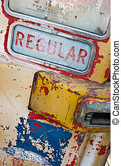 Vintage gas pump - Old abandoned gas pump