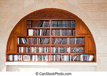 Books wailing wall - Bookcase near the Wailing Wall in...