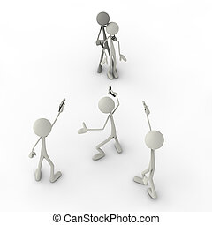 Mexican Standoff - 3d figures in a mexican standoff...